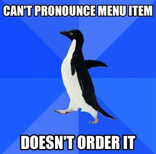 can't pronounce