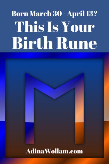 Birth rune 4 30 to 4 13 Ehwaz