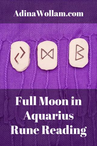 Full Moon in Aquarius Rune Reading